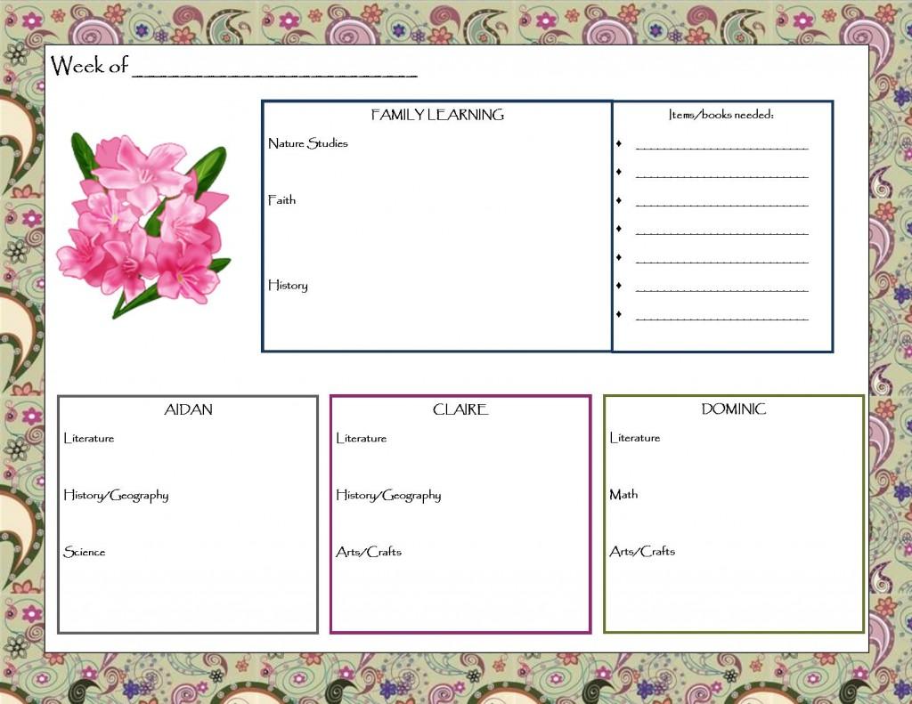 Weekly Planner 2012