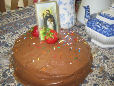 Our St. Dominic tea cake last year