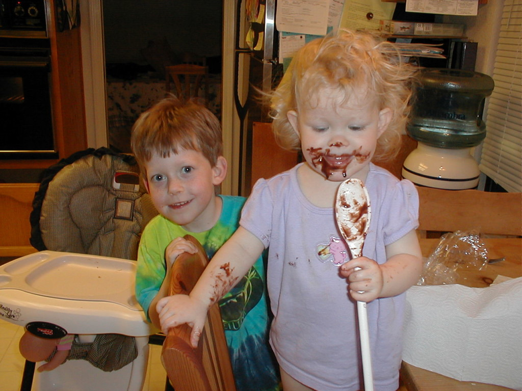 Claire and Aidan in our early homeschooling days.