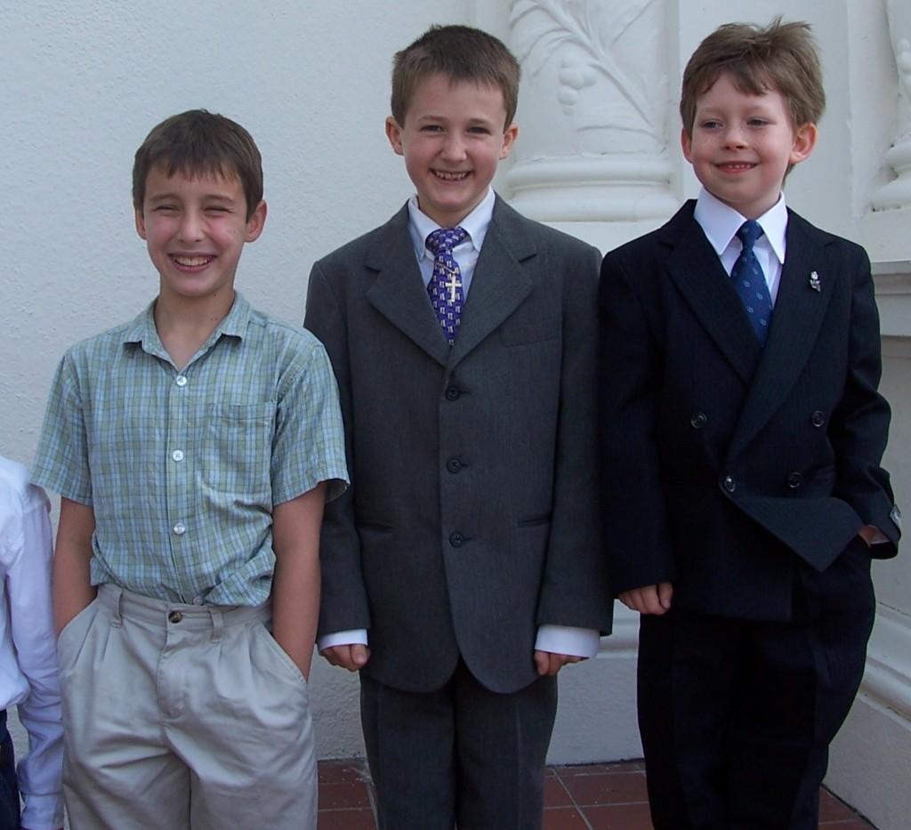 Nick, Eric, and Aidan in 2006