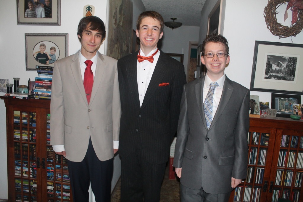 Nick, Eric, and Aidan before prom 2014