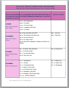 planning chart 2014